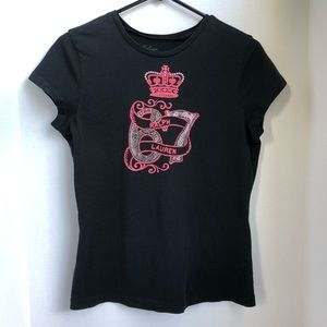 Vtg Ralph Lauren Black Graphic T Shirt